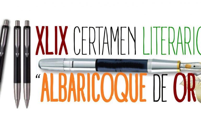 CARTEL XLIX CERTAMEN LITERARIO -ALBARICOQUE DE ORO-