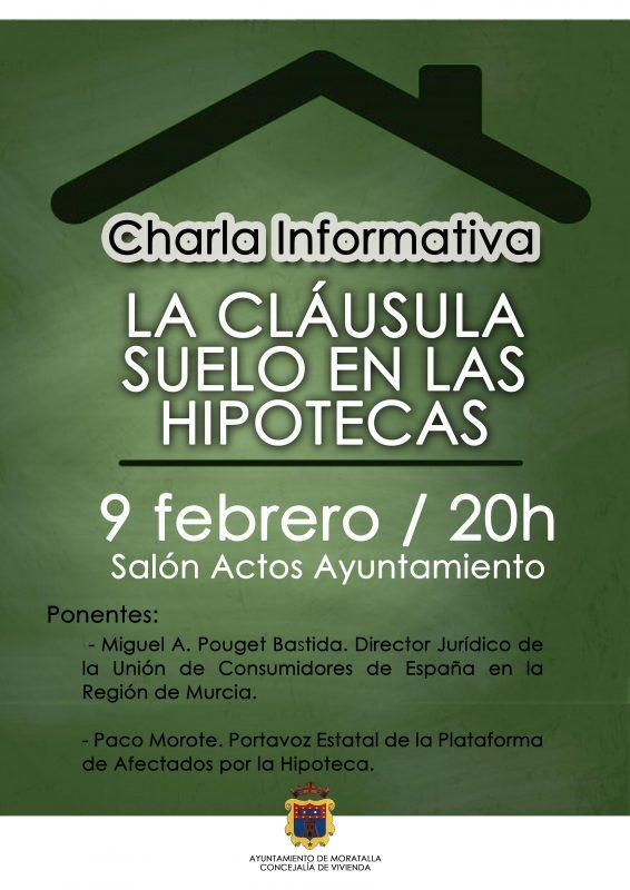 El ayuntamiento de moratalla organiza una charla for Hipotecas afectadas por el suelo